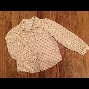 Gymboree Girls Button Shirt Size 8 classic floral